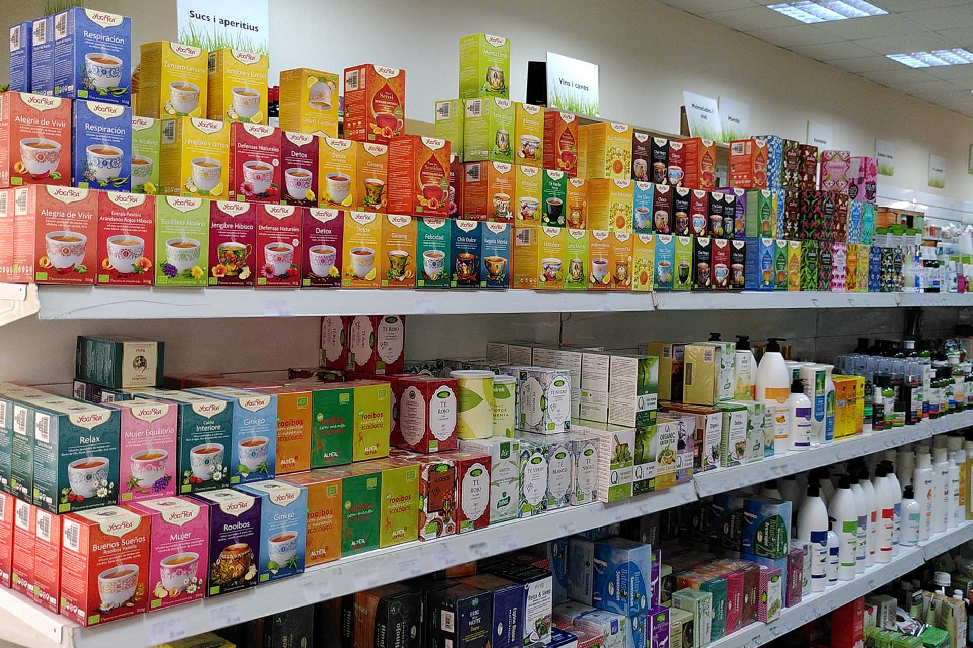 Infusiones, tés y otras bebidas en Tot Natural